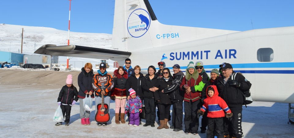 Nunavut dance team called the Pisitiit Dance Group from Pond Inlet | Summit Air