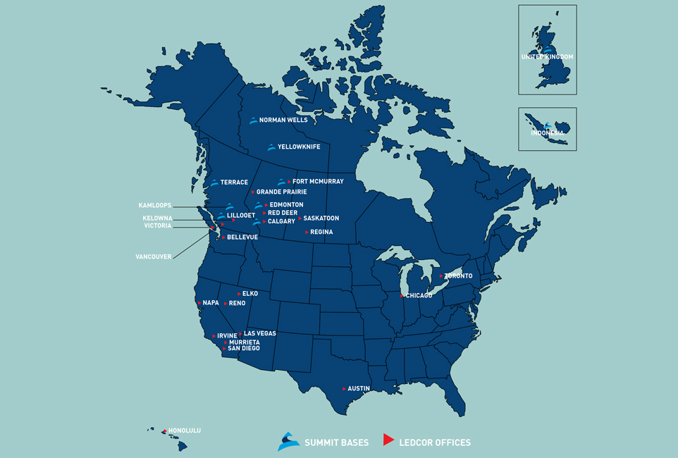 Map Of Canada Yellowknife.Charter Cargo And Passenger Aviation Summit Air