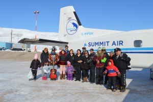Nunavut dance team called the Pisitiit Dance Group from Pond Inlet   Summit Air